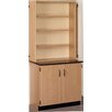 """Stevens ID Systems Science 36"""" Standing Desk with Laminate Top and Open Shelf Hutch"""
