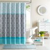 Intelligent Design Clara Microfiber Printed Shower Curtain