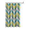 Intelligent Design Elise Microfiber Printed Shower Curtain