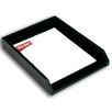 <strong>1000 Series Classic Leather Front-Load Letter Tray in Black</strong> by Dacasso