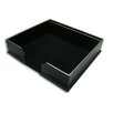 Dacasso 1000 Series Classic Leather Conference Pad Holder in Black