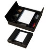 Dacasso 1000 Series Classic Leather Conference Room Organizer in Black