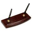 <strong>Dacasso</strong> 2000 Series Crocodile Embossed Leather Double Pen Stand in Brown