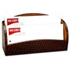 Dacasso 2000 Series Crocodile Embossed Leather Collection Letter Holder in Brown