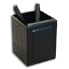 Dacasso 2000 Series Crocodile Embossed Leather Pencil Cup in Black