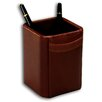<strong>1000 Series Classic Leather Pencil Cup in Mocha</strong> by Dacasso