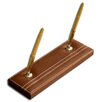 <strong>3200 Series Leather Double Pen Stand in Rustic Brown</strong> by Dacasso