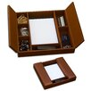 <strong>Dacasso</strong> 3200 Series Leather Conference Room Organizer in Rustic Brown