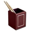 5000 Series 24kt Gold Tooled Leather Pencil Cup with Gold Accents in Burgundy