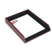 <strong>Dacasso</strong> 7000 Series Contemporary Leather Front-Load Letter Tray in Burgundy