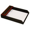 8000 Series Rosewood and Leather Front-Load Letter Tray