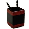 Dacasso 8000 Series Rosewood and Leather Pencil Cup