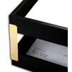 Dacasso 1000 Series Classic Leather Tray Posts in Gold