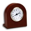 <strong>Dacasso</strong> 1000 Series Classic Leather Clock with Gold Insert in Mocha