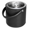 <strong>Dacasso</strong> 1000 Series Classic Leather Ice Bucket in Black