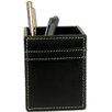 <strong>3200 Series Leather Pencil Cup in Rustic Black</strong> by Dacasso
