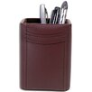 Dacasso 1000 Series Classic Leather Pencil Cup in Chocolate Brown