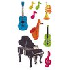 <strong>Bulk Roll Prismatic Musical Instrument Sticker</strong> by Jillson & Roberts