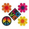 <strong>Jillson & Roberts</strong> Bulk Roll Prismatic Peace Love Flower Sticker