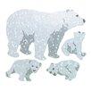 <strong>Bulk Roll Prismatic Polar Bears Sticker</strong> by Jillson & Roberts
