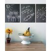 WallCandy Arts Chalkboards Wall Decal (Set of 3)