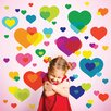 <strong>WallCandy Arts</strong> Just For Fun Overlapping Hearts Wall Decal 50 Piece Set