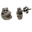 <strong>Lesa Michelle</strong> Panda Bear Cubic Zirconia Stud Earrings