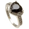 <strong>Lesa Michelle</strong> Sterling Silver Heart Cut Cubic Zirconia Ring