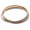 <strong>Lesa Michelle</strong> Weave Bangle Bracelet Set (Set of 3)