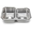 "<strong>Hahn</strong> 31.25"" x 20.5"" 60/40 Double Bowl Kitchen Sink"