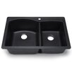 "Hahn Blanco Silgranit 33"" x 22"" Drop in Bowl Kitchen sink"