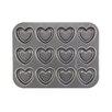 Cake Boss 37.81 cm Non Stick Carbon Steel Heart Cookie Pan
