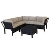 Creative Living Napa 6 Piece Sectional Deep Seating Group with Cushions