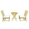 ZEW Inc 3 Piece Dining Set with Cushions