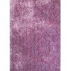 Rug Factory Plus Shaggy Viscose Solid Lavender Rug
