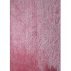 Rug Factory Plus Shaggy Viscose Solid Pink Rug