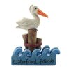 """Blossom Bucket """"Waterfront Friends"""" Letter Block with Pelican on Post"""