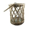 <strong>Wicker Basket with Glass Hurricane</strong> by Blossom Bucket