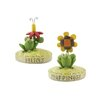 "Blossom Bucket 2 Piece ""Happiness"" and ""Hugs"" Frogs Statue Set"