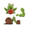 <strong>Blossom Bucket</strong> 3 Piece Smiling Frog / Snail / Worms Statue Set