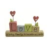 """Blossom Bucket """"Love"""" with """"Heaven On Earth"""" Letter Block Base"""