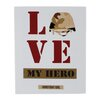 "Blossom Bucket ""Love My Hero"" by Gaby Juergens Textual Art"