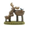 "<strong>Blossom Bucket</strong> Welcome to the Great Outdoors"" Moose on Base Statue"