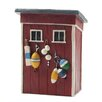 <strong>Blossom Bucket</strong> Beach Shed with Lures Statue