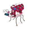 Blossom Bucket Metal Ladybug with Daisy Statue