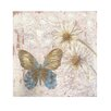 <strong>Butterfly/Flowers Picture by Cindy Lowry Wall Art in Beige</strong> by Blossom Bucket