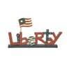 Blossom Bucket Decorative Liberty on Base with Flag