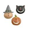 Blossom Bucket 3 Piece Cat, Jack-o-Lantern & Witch Pin Set