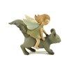 Blossom Bucket Garden Fairy Riding Squirrel Figurine