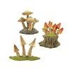 Blossom Bucket 3 Piece Decorative Mushroom Sculpture Set
